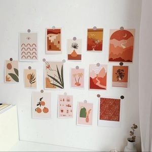 15 Sheets of Style Wall Cards Stationary Wall Deco